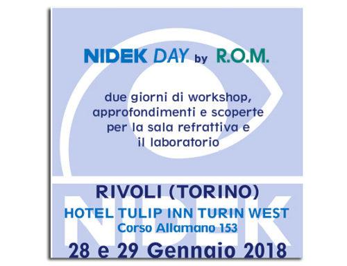 NIDEK Day a Torino (Rivoli) – 28/29 Gennaio 2018